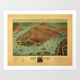 New York by Currier & Ives (1879) Art Print