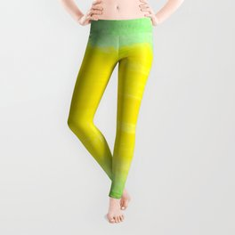 Watercolor green yellow vector isolated background Leggings