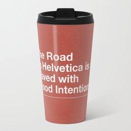 The Road to Helvetica Travel Mug