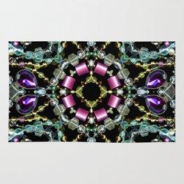 Bling Jewel Kaleidoscope Scanography Rug