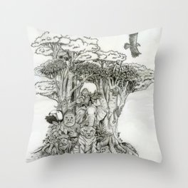 Jungle Friends Throw Pillow