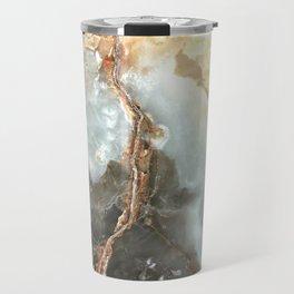 Golden Grey Marble Travel Mug