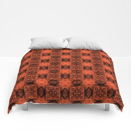 Flame Geometric Floral Comforters