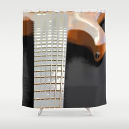 Morphed Portrait of an Electric Bass Shower Curtain