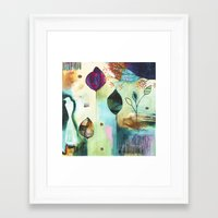 "flora bowley Framed Art Prints featuring ""Abundance"" Original Painting by Flora Bowley  by Flora Bowley"