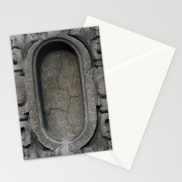 Old buildings concrete Stationery Cards