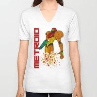 castlevania V-neck T-shirts featuring Turning to Zero by Greytel