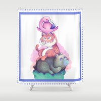 totem Shower Curtains featuring Totem by Anna Cannuzz