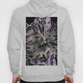 marble and 3d flower Hoody
