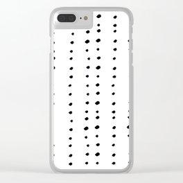 Modern boho dot Clear iPhone Case