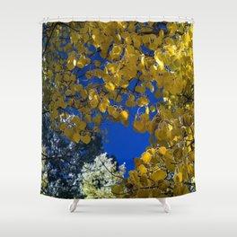 Golden to Blue Shower Curtain