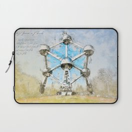 Atomium Brussels, Belgium Laptop Sleeve