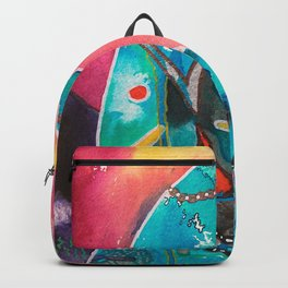 Super Cat - fantastic animal - by LiliFlore Backpack