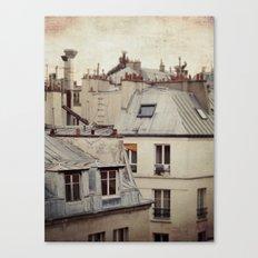 Paris roofs Canvas Print