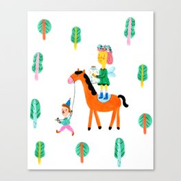 Colorful Cheerful Forest Canvas Print