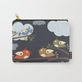 Birds sitting on tree branches Carry-All Pouch