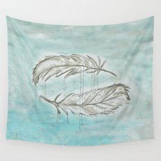 Feathers and memories Wall Tapestry
