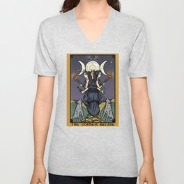 The Godddess Hecate In Tarot Card Unisex V-Neck