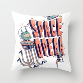 Space Opera Throw Pillow