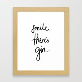 Smile - Gin Framed Art Print