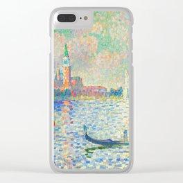 """Henri-Edmond Cross """"Vue du bassin de Saint-Marc"""" Clear iPhone Case"""