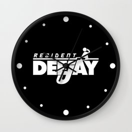 Resident Deejay Music Quote Wall Clock