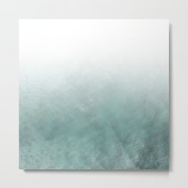 Rustic Turquoise Ombre Metal Print