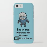 garrus iPhone & iPod Cases featuring Garrus: In the middle of some calibrations by Skart87