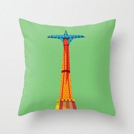 Parachute Jump Throw Pillow