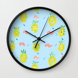 Pineapples Squiggle Wall Clock