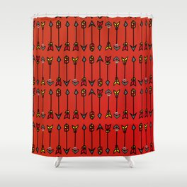 The summer arrows Shower Curtain