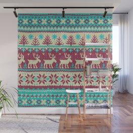 Ugly Christmas Sweater Digital Knit Pattern 2 Wall Mural