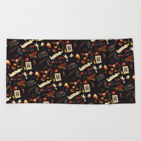 """""""Twin Peaks"""" Pattern Design Beach Towel"""
