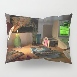 80s Nerd Desk Still Life Pillow Sham