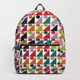 Colorful Geometric Pattern #05 Backpack