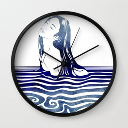 Water Nymph VIII Wall Clock