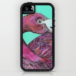 Flamingos Never Sleep iPhone Case