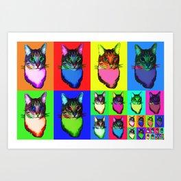 Cat Copy #42 Art Print