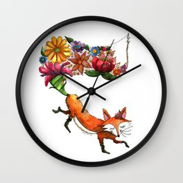 Hunt Flowers Not Foxes One Wall Clock