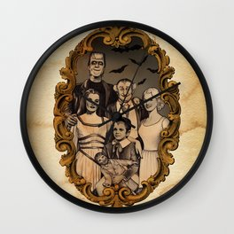 Munsters Family Portrait Wall Clock