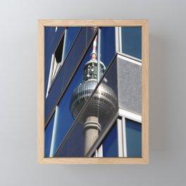 Fernsehturm Berlin Spiegelung Foto -  TV tower Berlin mirroring Photo Framed Mini Art Print
