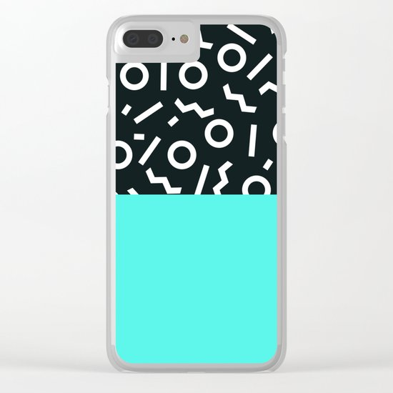 Memphis pattern 48 Clear iPhone Case