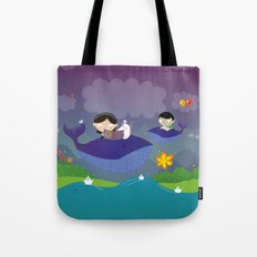 Story about flying whales Tote Bag