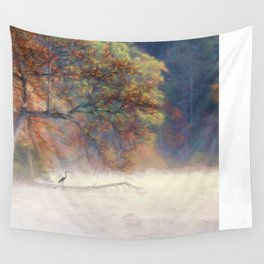 Morning on the Lake Wall Tapestry