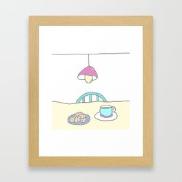 Hot beverage and cookies Framed Art Print