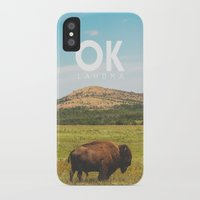 oklahoma iPhone & iPod Cases featuring Oklahoma Buffalo by Michael Roselle
