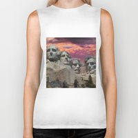 rushmore Biker Tanks featuring Great Americans by Exquisite Photography by Lanis Rossi