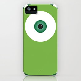 PIXAR CHARACTER POSTER - Mike Wazowski - Monsters, Inc. iPhone Case