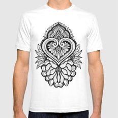Sacred Flora MEDIUM Mens Fitted Tee White