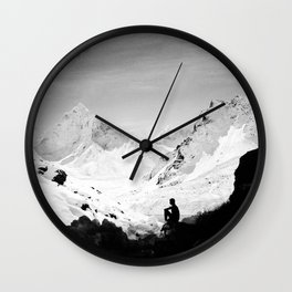 Snowy Isolation Wall Clock